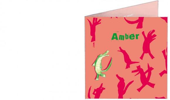 omkijkende krokodil| patroon| roze | voorkant