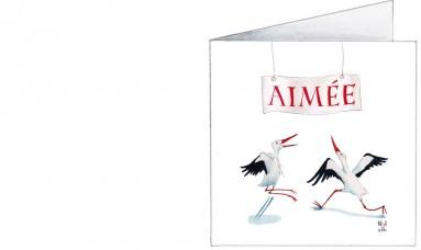 Voorkant | Aimée | blije ooievaars