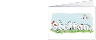 Voorkant | Steffan | vrolijke dieren en een zusje