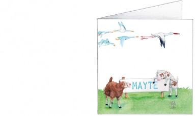 Voorkant | Mayte | schapen, ganzen en een ooievaar