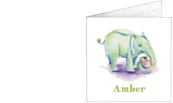 olifant met baby in slurf | voorkant