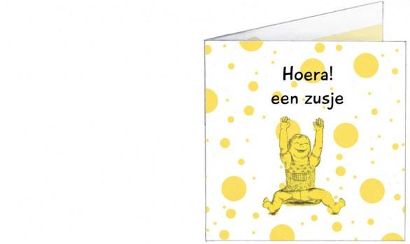 blije peuter | geel | voorkant