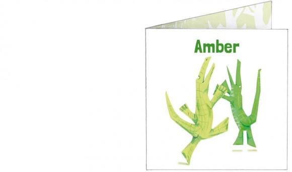 dansende krokodillen | groen | voorkant